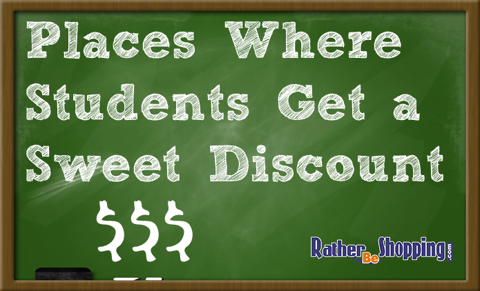 50 places where student get discounts