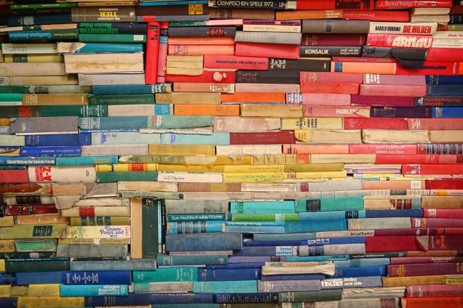 A lot of colorful books