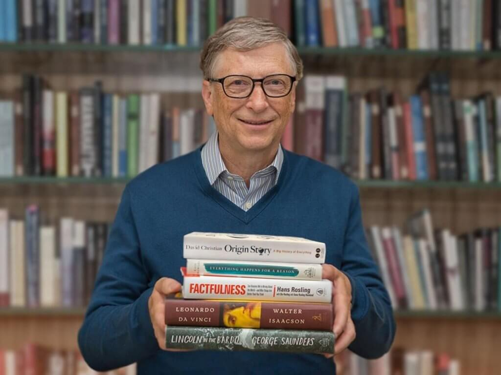 Bill Gates with Books