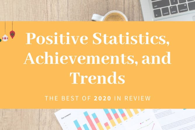 reviewing positive statistics and trends of 2020