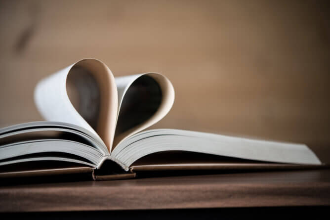 celebrating Valentine's day by reading books