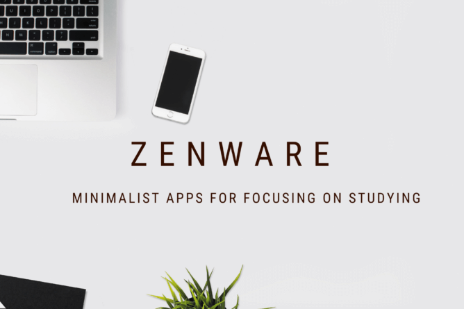 a laptop with a zenware app for focusing on studying