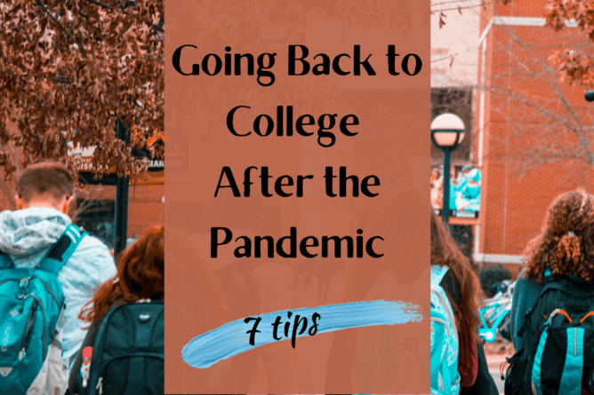 students going back to college after the pandemic