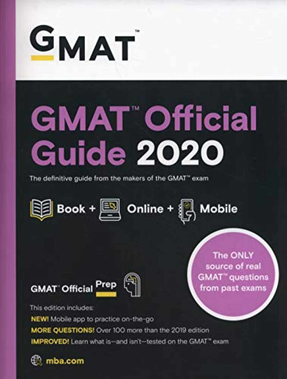 Sell, Buy or Rent GMAT Official Guide 2020: Book + Online