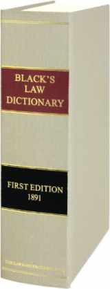 9780963010605-0963010603-Black's Law Dictionary, 1st Edition