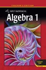 9780547647128-0547647123-Holt McDougal Algebra 1, Teacher's Edition 2012