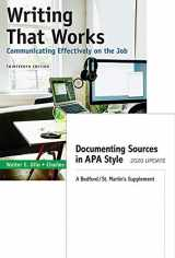 9781319353124-1319353126-Writing That Works: Communicating Effectively on the Job & Documenting Sources in APA Style: 2020 Update