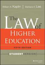 9781118036624-111803662X-The Law of Higher Education, 5th Edition: Student Version