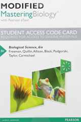 Modified MasteringBiology with Pearson eText -- Standalone Access Card -- for Biological Science (6th Edition)