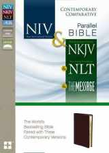 9780310436935-0310436931-NIV, NKJV, NLT, The Message, Contemporary Comparative Parallel Bible, Bonded Leather, Burgundy: The World's Bestselling Bible Paired with Three Contemporary Versions