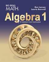 9781642087178-1642087173-Big Ideas Math - Algebra 1, A Common Core Curriculum