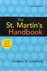 9781319120269-1319120261-The St. Martin's Handbook with 2016 MLA update