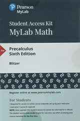 9780134757834-0134757831-MyLab Math with Pearson eText -- Standalone Access Card -- for Precalculus (6th Edition)