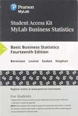9780134780603-0134780604-MyLab Statistics with Pearson eText -- 24 Month Standalone Access Card -- for Basic Business Statistics (14th Edition)