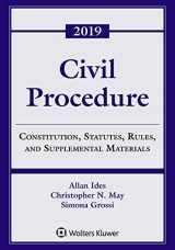 9781543809398-1543809391-Civil Procedure: Constitution, Statutes, Rules, and Supplemental Materials, 2019 (Supplements)