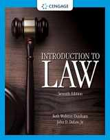9781305948648-1305948645-Introduction to Law (MindTap Course List)