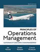 Principles of Operations Management: Sustainability and Supply Chain Management