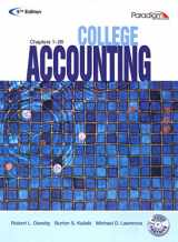 9780763834968-0763834963-College Accounting: Student Courseware Text Chapters 1-28 with Study Partner