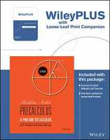 Precalculus: A Prelude to Calculus, 3rd Edition WileyPLUS Registration Card + Loose-leaf Print Companion