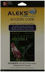 ALEKS 360  Access Card (18 weeks) for College Algebra