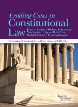 9781640207387-1640207384-Leading Cases in Constitutional Law, A Compact Casebook for a Short Course, 2018 (American Casebook Series)