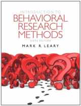 9780205203987-0205203981-Introduction to Behavioral Research Methods (6th Edition)