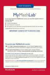 MyMathLab/MyStatLab - Glue-in Access Card