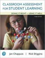 9780135185575-0135185572-Classroom Assessment for Student Learning: Doing It Right - Using It Well (3rd Edition)