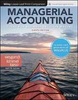 9781119498728-1119498724-Managerial Accounting: Tools for Business Decision Making, 8e WileyPLUS (next generation) + Loose-leaf