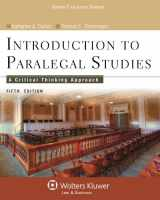 9781454808787-1454808780-Introduction to Paralegal Studies: A Critical Thinking Approach, Fifth Edition (Aspen College)