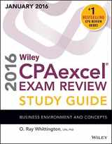 Wiley CPAexcel Exam Review 2016 Study Guide January: Business Environment and Concepts (Wiley Cpa Exam Review)