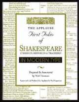 9781557833334-1557833338-Applause First Folio of Shakespeare in Modern Type: Comedies, Histories & Tragedies (Applause First Folio Editions)