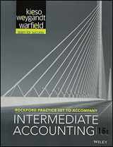 9781119287933-1119287936-Rockford Practice Set t/a Intermediate Accounting, Sixteenth edition