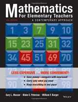 9781118487006-1118487001-Mathematics for Elementary Teachers: A Contemporary Approach