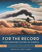 9780393283044-0393283046-For the Record: A Documentary History of America (Sixth Edition)  (Vol. 2)
