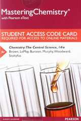 9780134553108-0134553101-MasteringChemistry with Pearson eText --  Standalone Access Card -- for Chemistry: The Central Science (14th Edition)