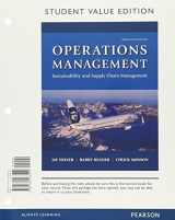 9780134471815-0134471814-Operations Management: Sustainability and Supply Chain Management, Student Value Edition Plus MyLab Operations Management with Pearson eText -- Access Card Package (12th Edition)