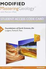9780134287928-0134287924-Modified Mastering Geology with Pearson eText -- Standalone Access Card -- for Foundations of Earth Science (8th Edition)