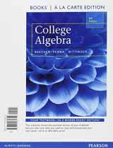 9780321973443-0321973445-College Algebra, Books a la Carte Edition plus MyLab Math with Pearson eText, Access Card Package (5th Edition)