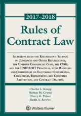 9781454875345-1454875348-Rules of Contract Law, 2017-2018 Statutory Supplement (Supplements)