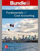 9781260848700-1260848701-GEN COMBO FUNDAMENTALS OF COST ACCOUNTING; CONNECT ACCESS CARD