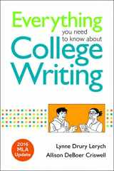 9781319088071-1319088074-Everything You Need to Know about College Writing, 2016 MLA Update