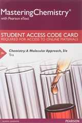 MasteringChemistry with Pearson eText -- Standalone Access Card -- for Chemistry: A Molecular Approach (3rd Edition)