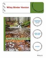 Applied Calculus 5e Binder Ready Version + WileyPLUS Registration Card (Wiley Plus Products)
