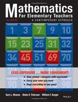 9781118487006-1118487001-Mathematics for Elementary Teachers: A Contemporary Approach