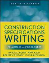 9780470380369-0470380365-Construction Specifications Writing: Principles and Procedures