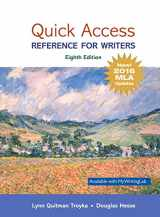 9780134701325-0134701321-Quick Access: Reference for Writers, MLA Update (8th Edition)