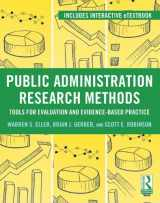 9780415895309-0415895308-Public Administration Research Methods: Tools for Evaluation and Evidence-Based Practice