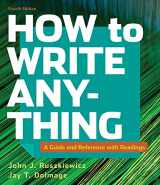 9781319282332-1319282334-How to Write Anything with Readings: A Guide and Reference