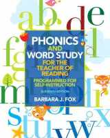 9780132838092-0132838095-Phonics and Word Study for the Teacher of Reading: Programmed for Self-Instruction (11th Edition)